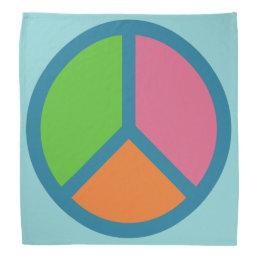 Colorful Peace Sign bandana