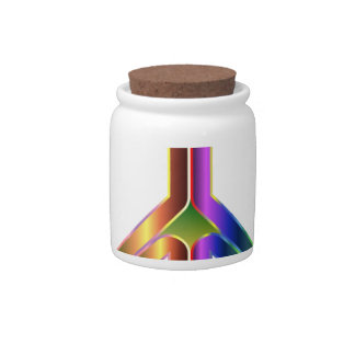 colorful peace sign candy jars