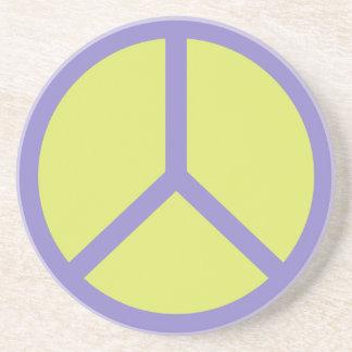 Colorful Peace Sign coaster
