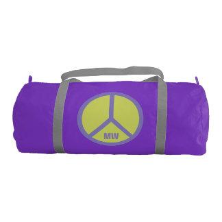 Colorful Peace Sign custom monogram duffle bags