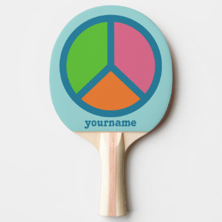 Colorful Peace Sign custom ping pong paddle