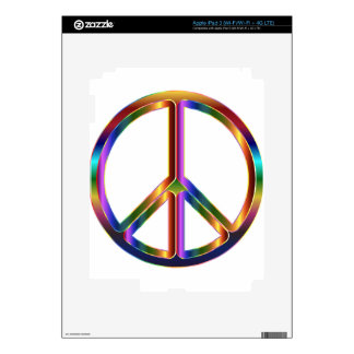 colorful peace sign decals for iPad 3