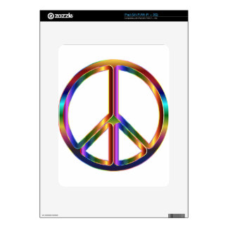 Colorful Peace Sign Decals For The iPad