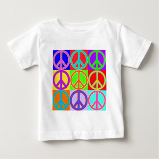 Colorful Peace Sign Design Baby T-Shirt