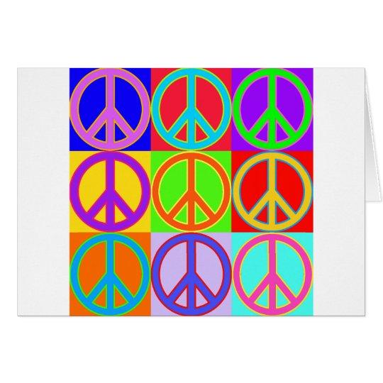 Colorful Peace Sign Design Card