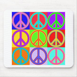 Colorful Peace Sign Design Mouse Pad