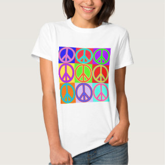 Colorful Peace Sign Design Shirt
