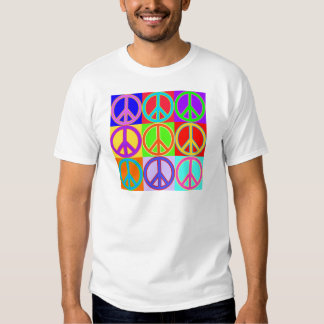 Colorful Peace Sign Design T-shirt