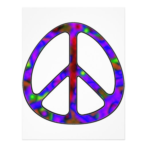 colorful peace sign full color flyer