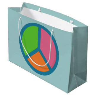 Colorful Peace Sign gift bags