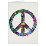 Colorful Peace Sign Greeting Card