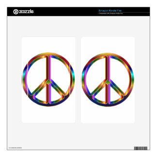 colorful peace sign kindle fire skins