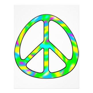 colorful peace sign letterhead