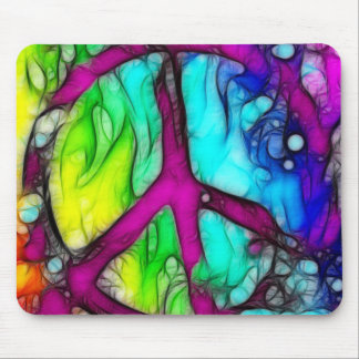 Colorful Peace Sign Mouse Pad