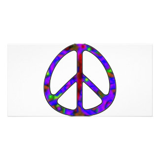 colorful peace sign photo cards
