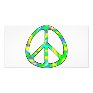 colorful peace sign picture card