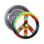 colorful peace sign pinback buttons