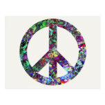Colorful Peace Sign Postcards
