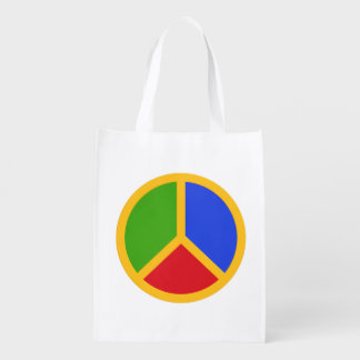 Colorful Peace Sign reusable bag Market Totes