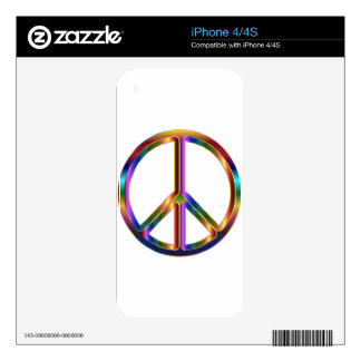 Colorful Peace Sign Skins For The iPhone 4S