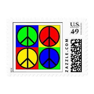 Colorful Peace Sign Stamps