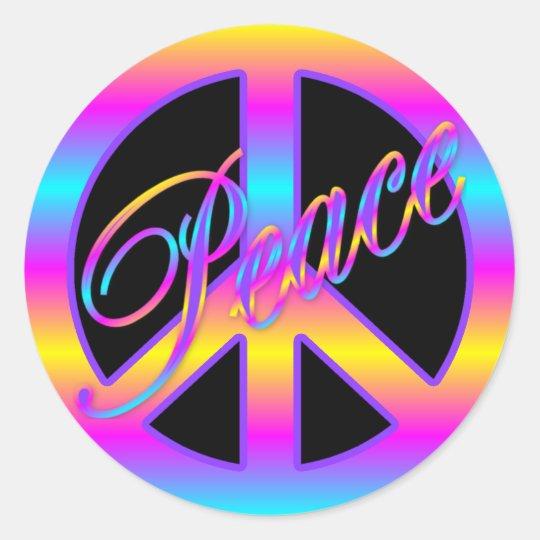 Colorful Peace Sign Stickers Zazzle