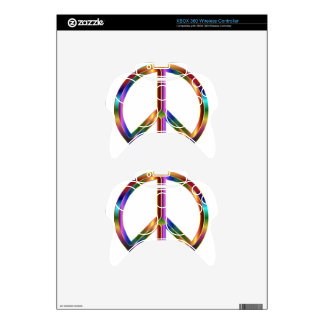 Colorful Peace Sign Xbox 360 Controller Decal