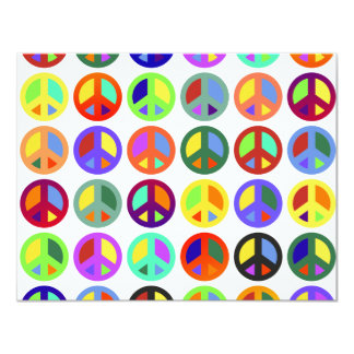 Colorful Peace Signs Card