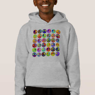Colorful Peace Signs Hoodie