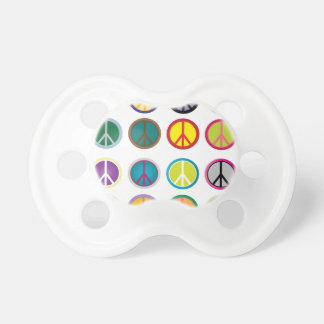 Colorful Peace Signs - Peace Sign pattern Pacifier