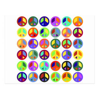 Colorful Peace Signs Postcard