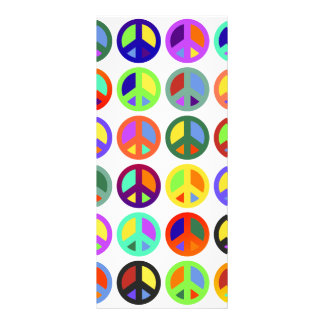 Colorful Peace Signs Rack Card