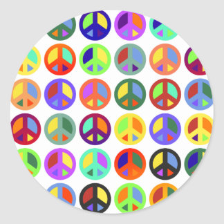 Colorful Peace Signs Stickers