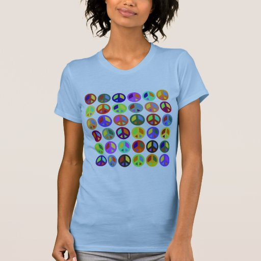Colorful Peace Signs Tanktop