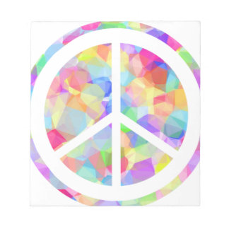 Colorful Peace Symbol Notepad