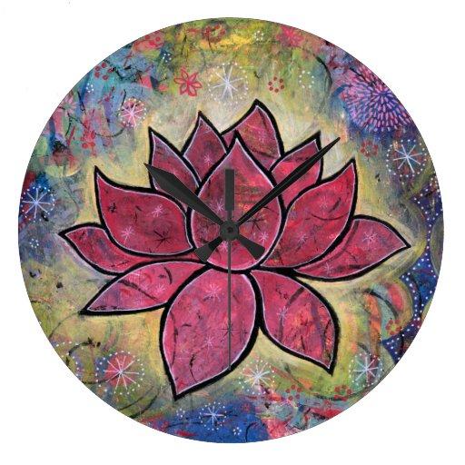 Colorful, Peaceful Lotus Clock