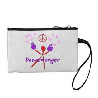 Colorful Peacemonger Change Purse