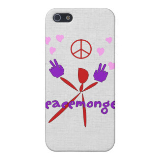 Colorful Peacemonger Cover For iPhone 5