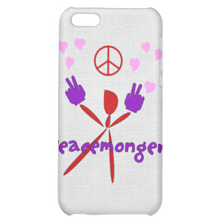 Colorful Peacemonger Cover For iPhone 5C