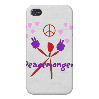 Colorful Peacemonger iPhone 4/4S Covers