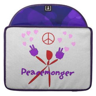 Colorful Peacemonger MacBook Pro Sleeves