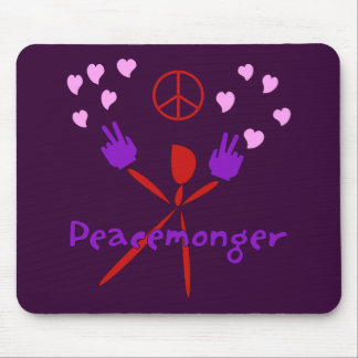 Colorful Peacemonger Mouse Pad