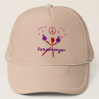 Colorful Peacemonger Trucker Hat