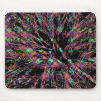Colorful Peacock Abstract Mouse Pad