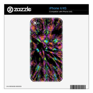 Colorful Peacock Abstract Skins For iPhone 4