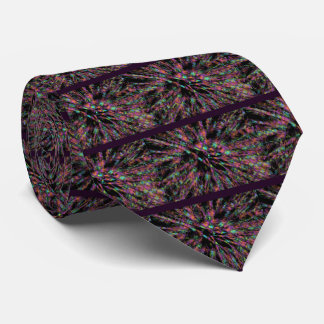 Colorful Peacock Abstract Tie
