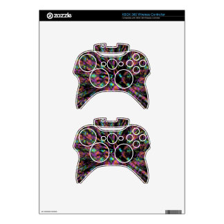 Colorful Peacock Abstract Xbox 360 Controller Skin