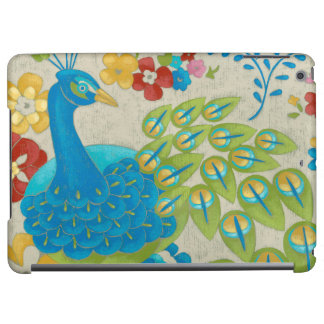 Colorful Peacock and Flowers iPad Air Covers