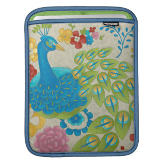 Colorful Peacock and Flowers Sleeve For iPads