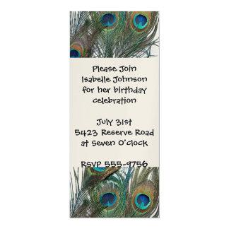 Colorful Peacock Birthday Invitations